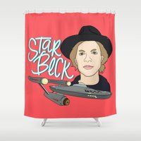 cassia beck Shower Curtains featuring Star Beck by Chelsea Herrick