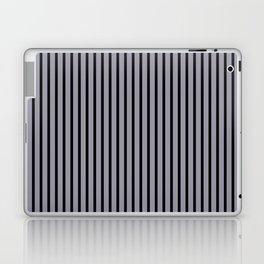 Lilac Gray and Black Stripes Laptop & iPad Skin