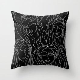 Winking Ladies Throw Pillow