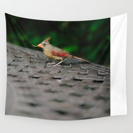 Female Cardinal // Ohio Wall Tapestry