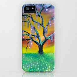 Entanglement, colorful tree landscape, beautiful landscape, cypress tree iPhone Case
