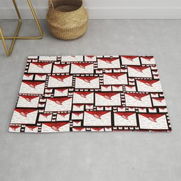 red white envelope text i love you Rug