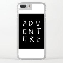 Decal Arrow, Adventure, Car Window Sticker, Vinyl Decal, Laptop Decal Clear iPhone Case