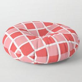 Modern Checkers (red tiles) Floor Pillow