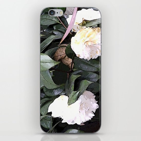 White Camellia iPhone & iPod Skin