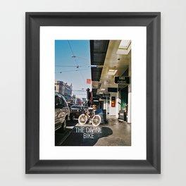 The Divine Bike (Chapel Street, 2013) Framed Art Print