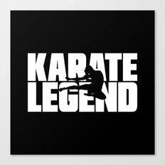 Karate Legend Canvas Print