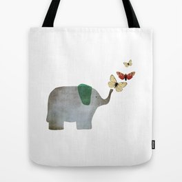 Elephant and friends Tote Bag