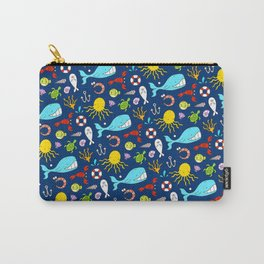 Sea Animals - Cute Pattern Carry-All Pouch