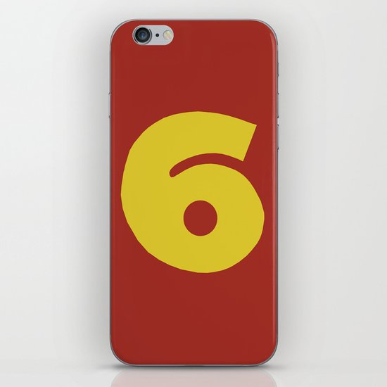 Number 6 iPhone & iPod Skin