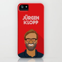 Jürgen Klopp Liverpool FC Manager iPhone Case
