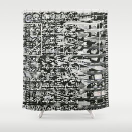 Variance Police (P/D3 Glitch Collage Studies) Shower Curtain