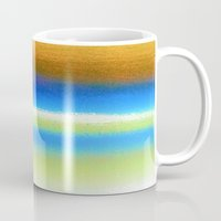 bands Mugs featuring Colour Bands by Brian Raggatt