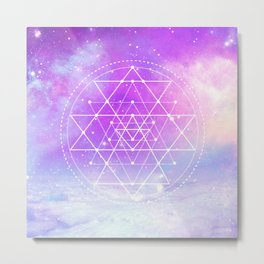 Sacred Geometry (Sri Yantra) Metal Print