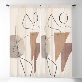 Minimal Abstract Shapes No.59 Blackout Curtain