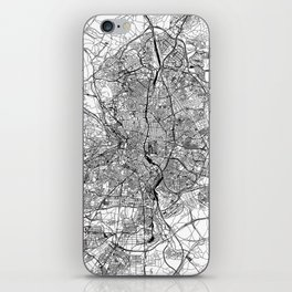 Madrid White Map iPhone Skin