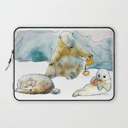 Polar Tea Party Laptop Sleeve