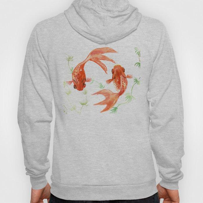 Koi Fish, Feng Shui, Goldfish art, Two fish, Hoody
