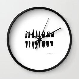 teeth of man Wall Clock