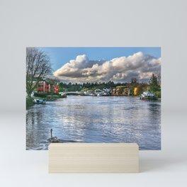 The River Thames at Reading Mini Art Print