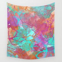 color splatter watercolor digital print Wall Tapestry