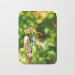 Macro dragonfly Bath Mat