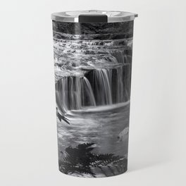 Ledge Falls, No. 4 bw Travel Mug