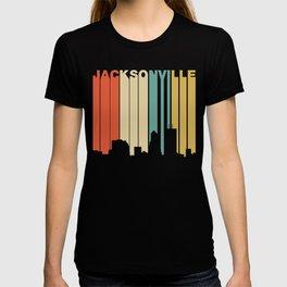 Retro 1970's Style Jacksonville Florida Skyline T-shirt