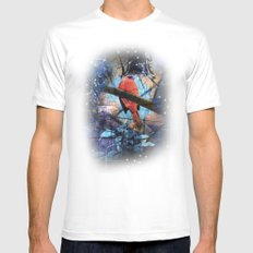 The Cardinals Land In Blue MEDIUM Mens Fitted Tee White