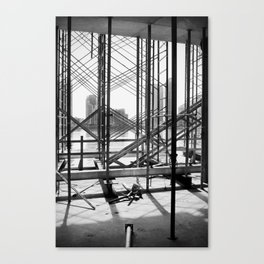Water View Through Scaffolding in Miami Canvas Print