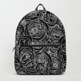 Black and White Roses Backpack