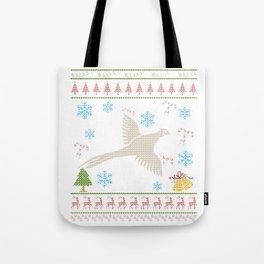 Pheasant Hunting Christmas Ugly Holiday Shirt Tote Bag