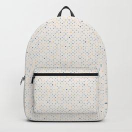 LOTS OF DOTS / milky white / phthalo blue / yellow ochre Backpack