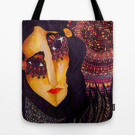 the indian women and the sun Tote Bag