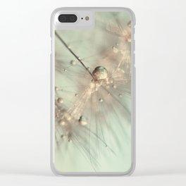 dandelion mint Clear iPhone Case