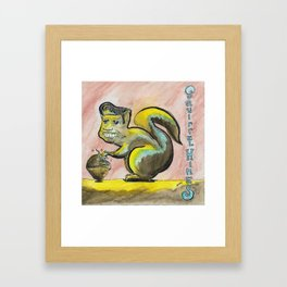 Squirrel Hines Framed Art Print