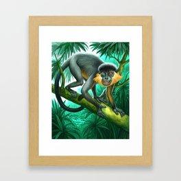 Monkey for Tiger Stripes Framed Art Print