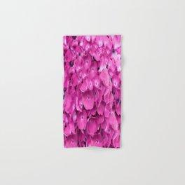 Artful Pink Hydrangeas Floral Design Hand & Bath Towel