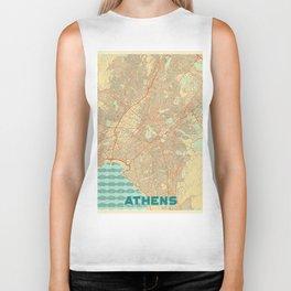 Athens Map Retro Biker Tank