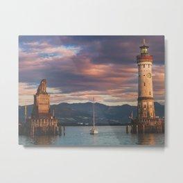 Lighthouse Lindau Metal Print