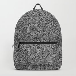 Marigold Grey by William Morris Backpack