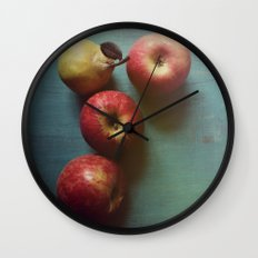 Autumn Apples Wall Clock