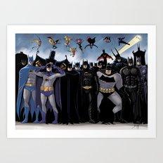 Batmen Art Print
