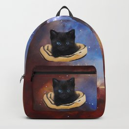 Galaxy Cat and Red Nebula Backpack
