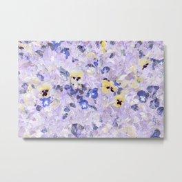 Pansy Field Floral Pattern VI Metal Print