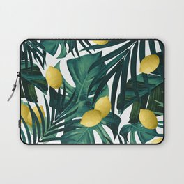 Tropical Lemon Twist Jungle #1 #tropical #decor #art #society6 Laptop Sleeve