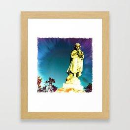 Cemetery Friend Framed Art Print