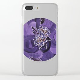 Triptych-1 Clear iPhone Case