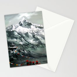 Panoramic View Of Mountain Everest Stationery Cards