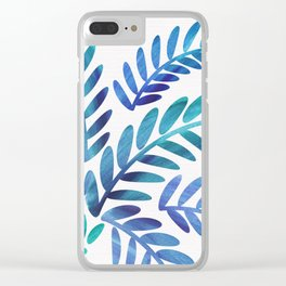 Whimsical Watercolor Palm Tree Clear iPhone Case